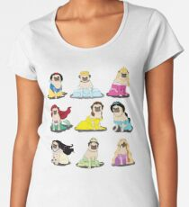Pug Princesses Version 2 Women's Premium T-Shirt