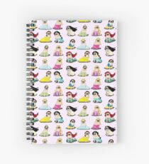 Pug Princesses Version 2 Spiral Notebook