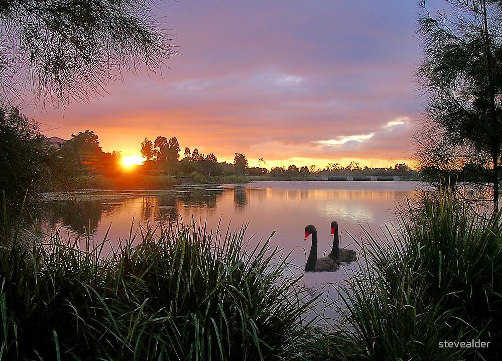 Sunrise Lake Eden by stevealder