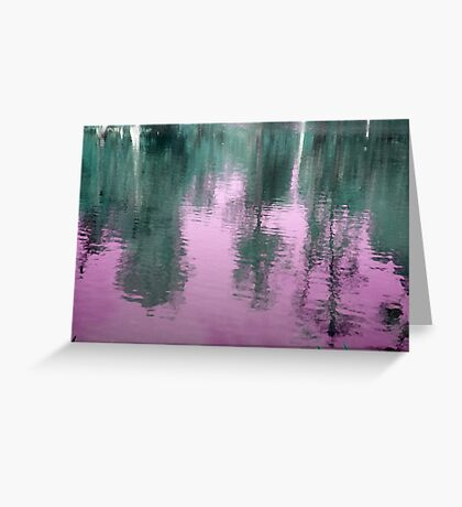 Reflection in Purple Greeting Card