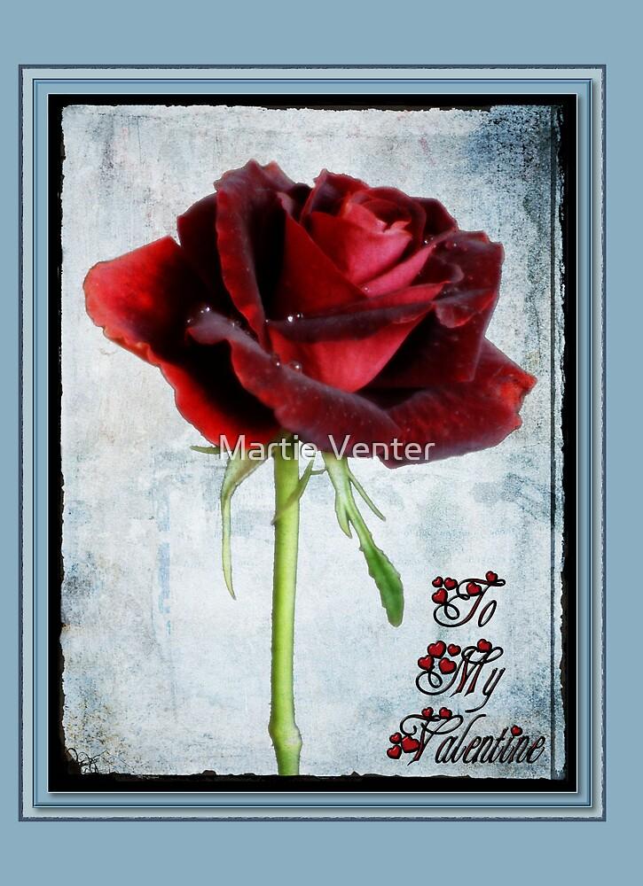 Framed Valentine Card by Martie Venter