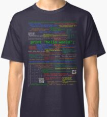 Hello World - Many Programming Languages (dark) Classic T-Shirt