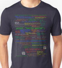 Hello World - Many Programming Languages (dark) Unisex T-Shirt