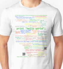 Hello World - Many Programming Languages (dark) T-Shirt