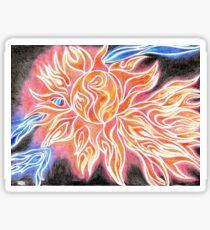 iSun Electric Glowing Sun Rays Abstract Drawing Design Sticker