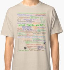 Hello World - Many Programming Languages (light) Classic T-Shirt