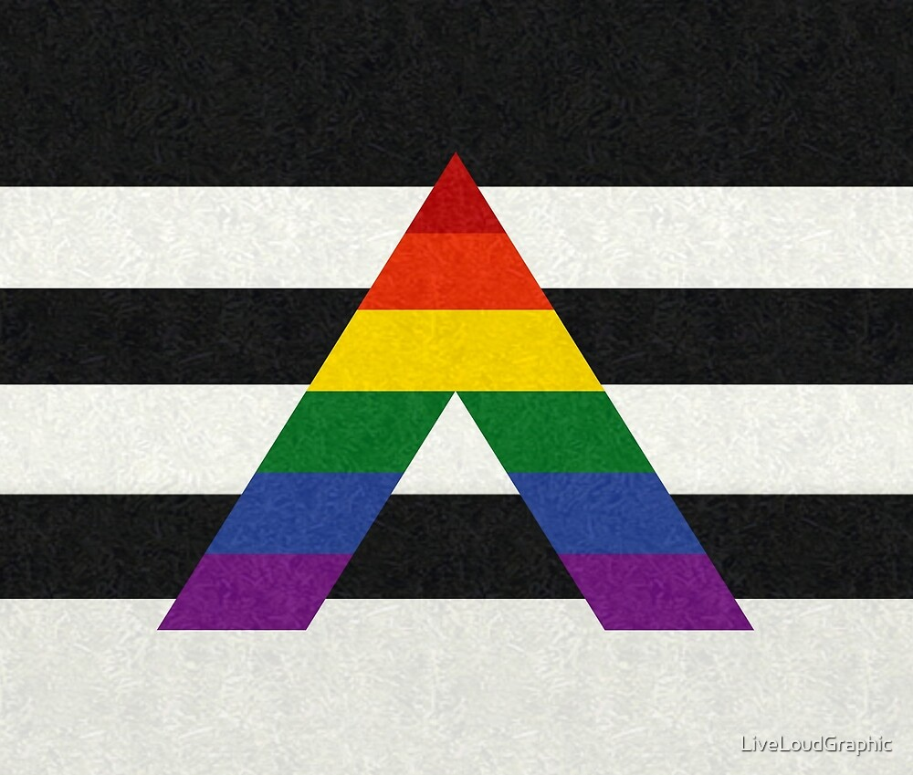 LGBT Ally Flag by LiveLoudGraphic