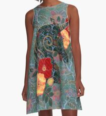 Unicorn Tapestry A-Line Dress