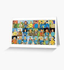 Many faces of Tintin  Greeting Card