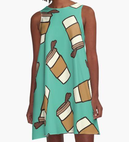 Take it Away Coffee Pattern A-Line Dress