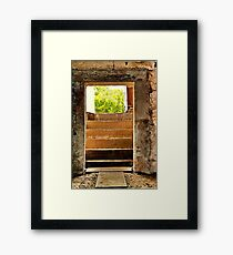 """The Way Out"" Framed Print"