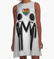 Silhouette Groom and Groom - Tall A-Line Dress