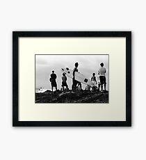 Byron Bay Surfers Framed Print