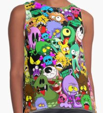 Monsters Doodles Characters Saga Contrast Tank