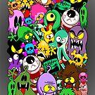 Monsters Doodles Characters Saga by BluedarkArt