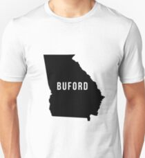 Buford, Georgia State Silhouette Unisex T-Shirt