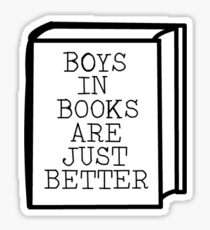 'Boys In Books Are Just Better'  Sticker