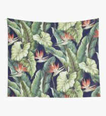 Night tropical garden II Wall Tapestry