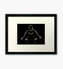 Ape Meditating Framed Print