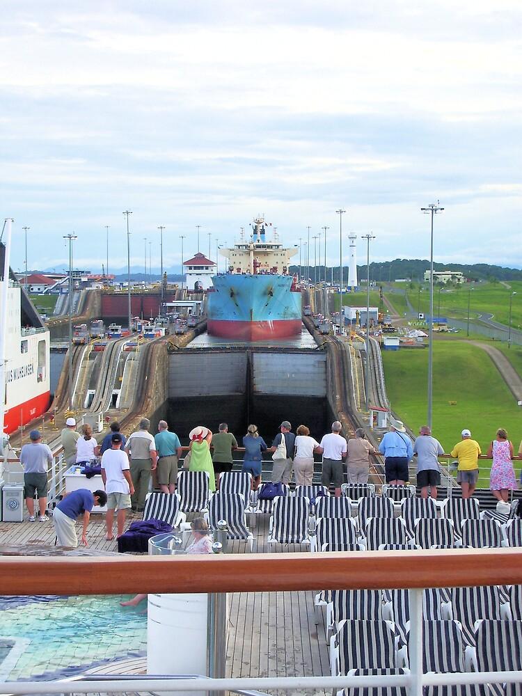 Gatun Locks, Panama Canal by Andy Carleton