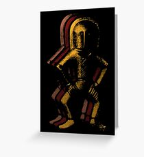 Ancient Spaceman Greeting Card