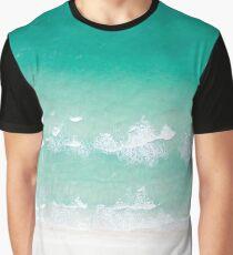 Ocean Shore Turquoise Green Beach Graphic T-Shirt