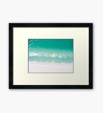 Ocean Shore Turquoise Green Beach Framed Print