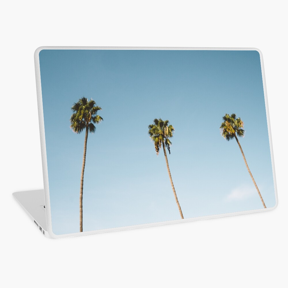 Tres palmeras Blue Sky California Vinilo para portátil