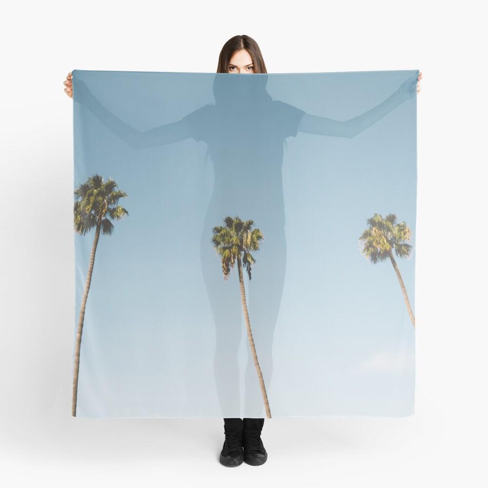 Tres palmeras Blue Sky California Pañuelo