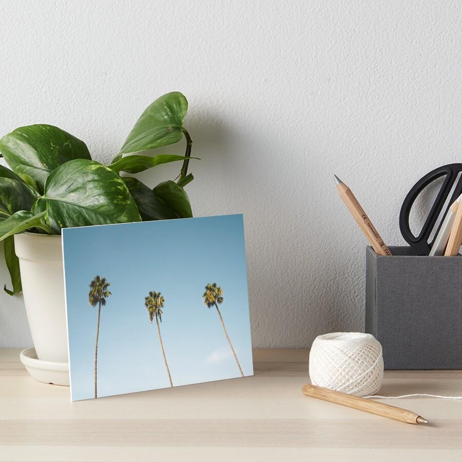 Tres palmeras Blue Sky California Lámina rígida
