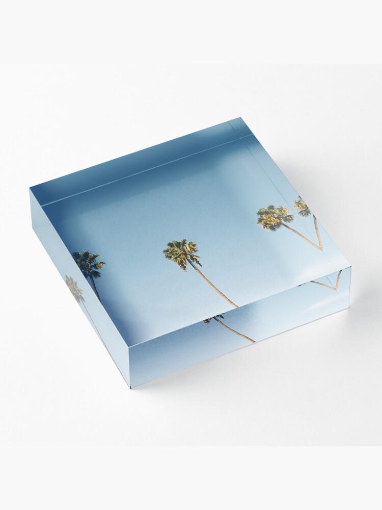Vista alternativa de Bloque acrílico Tres palmeras Blue Sky California