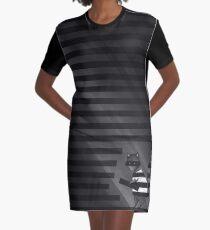 I Walk The Line Graphic T-Shirt Dress