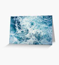 Meereswellen im Ozean Grußkarte