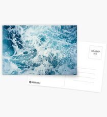 Sea Waves in the Ocean Postcards