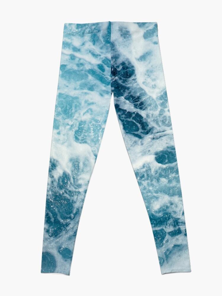 Alternate view of Sea Waves in the Ocean Leggings