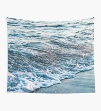 Waves Crash on the Beach Wall Tapestry