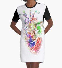 Colourful Heart Graphic T-Shirt Dress