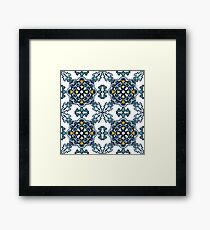 Seamless classic ornament tiles Framed Print