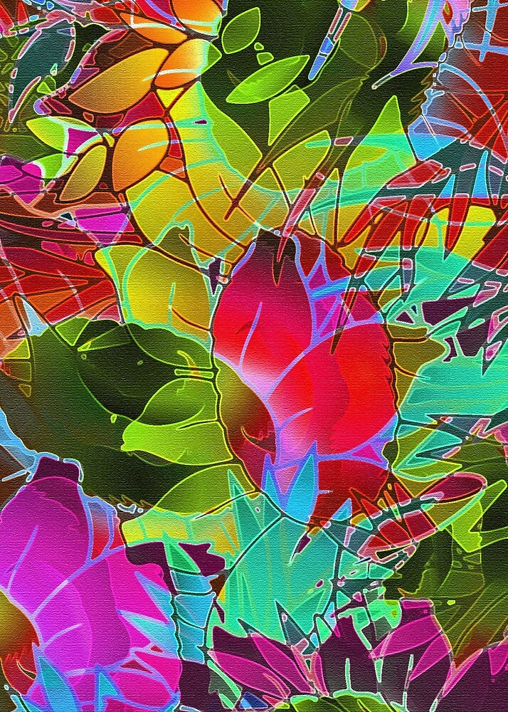 Floral Abstract Artwork G125 by MEDUSA GraphicART