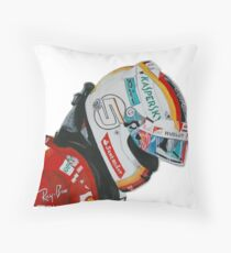 Vettel Helmet 2017 Throw Pillow