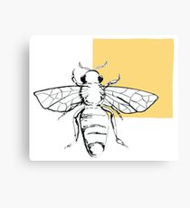 bee- yellow Canvas Print