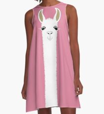 LLAMA PORTRAIT #5 A-Line Dress