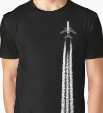 PLANE WITH CONTRAILS Graphic T-Shirt