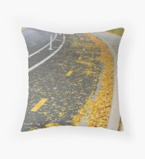Bike Lanes Throw Pillow