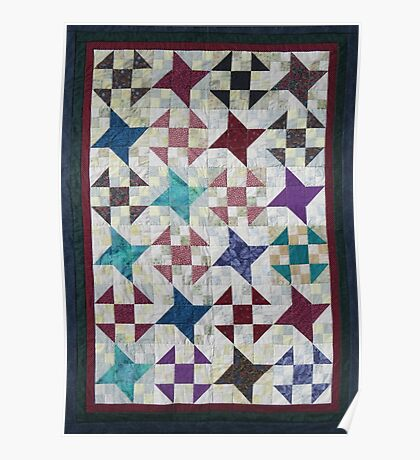 Churn Dash and Falling Stars Quilt Poster