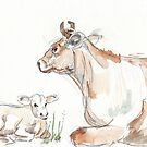 Daisy, the Jersey cow by Maree Clarkson
