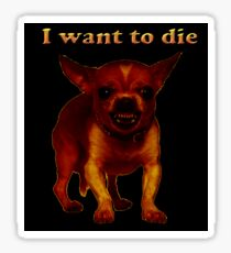death dog Sticker