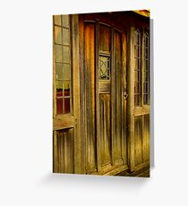 The Manor door Greeting Card
