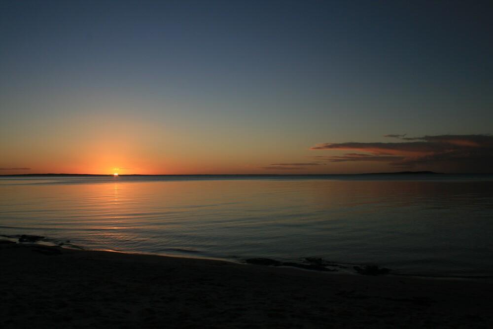 Sunset over Fraser Island, Australia 2 by Thomas Entwistle
