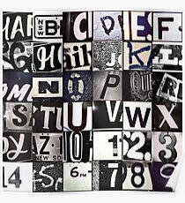 Instagram Alphabet Collection #6 Poster